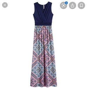 Gilli geometric maxi dress size M
